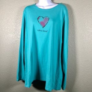 Life Is Good long sleeve t-shirt heart graphic XXL